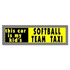 Softball Taxi Bumper Bumper Sticker