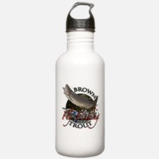 Brown trout fishing Water Bottle