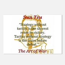 Strategy Without Tactics - Sun Tzu Postcards (Pack
