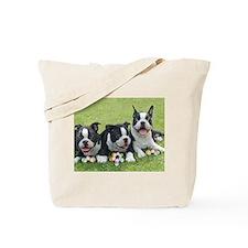 Easter boston terriers Tote Bag