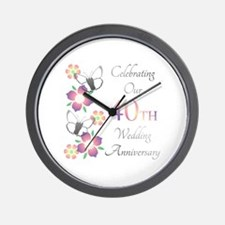 Unique Celebrating 40 years Wall Clock