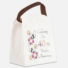 Unique Celebrating 40 years Canvas Lunch Bag