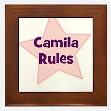Camila Rules Framed Tile