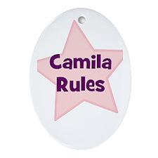 Camila Rules Oval Ornament