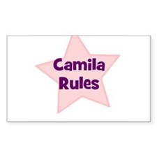 Camila Rules Rectangle Decal