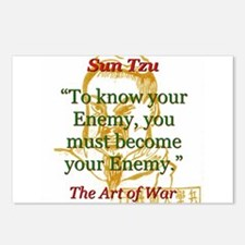 To Know Your Enemy - Sun Tzu Postcards (Package of