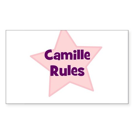 Camille Rules Rectangle Sticker
