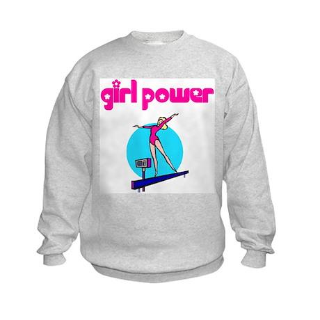 Girl Power Artistic Gymnastic Kids Sweatshirt