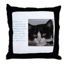 Cute Tuxedo cat Throw Pillow
