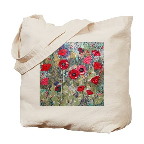 Poppy Fields Tote Bag