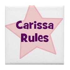 Carissa Rules Tile Coaster