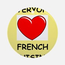 french cuisine Ornament (Round)