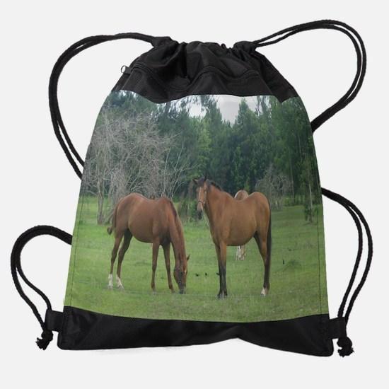 Horses- generic.jpg Drawstring Bag