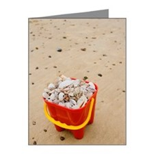 Beach pale filled with seash Note Cards (Pk of 20)