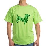 Dachshund st patricks day Green T-Shirt