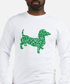 St. Patricks Day Dachshund Doxie Long Sleeve T-Shi