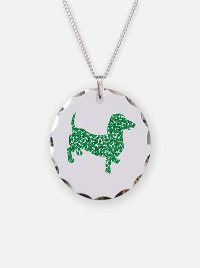 St. Patricks Day Dachshund Doxie Necklace