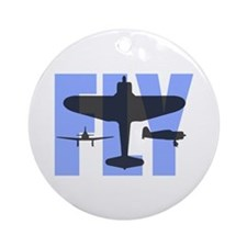 FLY Blue&Gray Ornament (Round)
