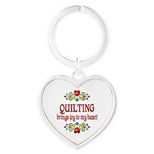 Quilting Joy Heart Keychain