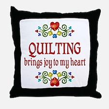 Quilting Joy Throw Pillow