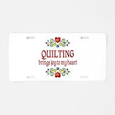 Quilting Joy Aluminum License Plate
