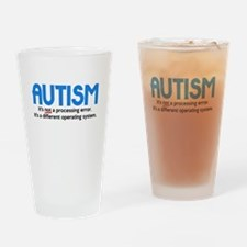 Autism Not a Processing Error Drinking Glass