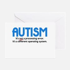 Autism Not a Processing Error Greeting Card