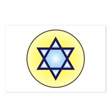 Jewish Star of David Postcards (Package of 8)