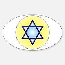Jewish Star of David Oval Decal
