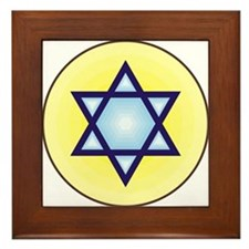 Jewish Star of David Framed Tile
