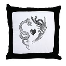 longfeng heart Throw Pillow