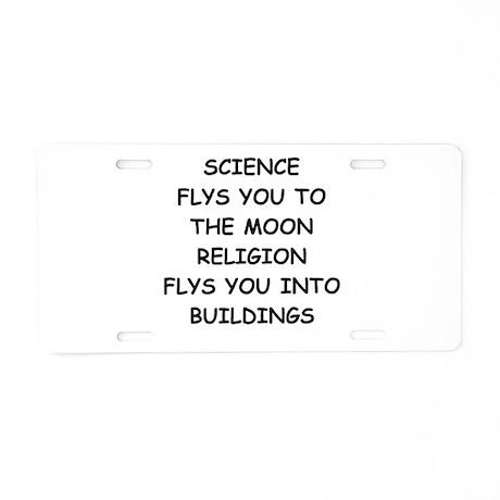 science Aluminum License Plate