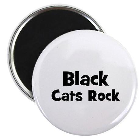black cats rock Magnet