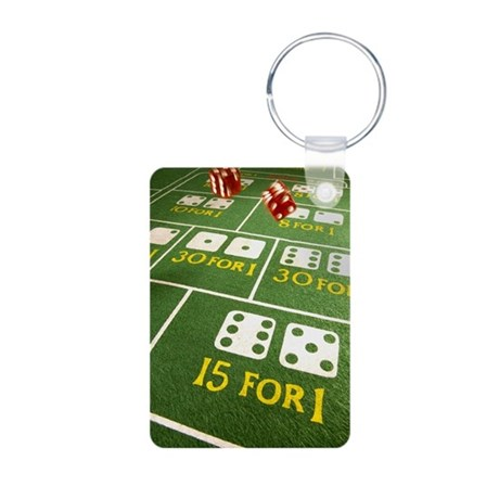 Throwing dice Aluminum Photo Keychain