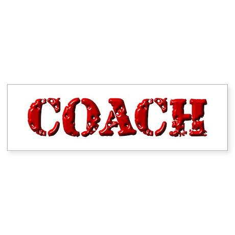 Coach in Red Bumper Sticker