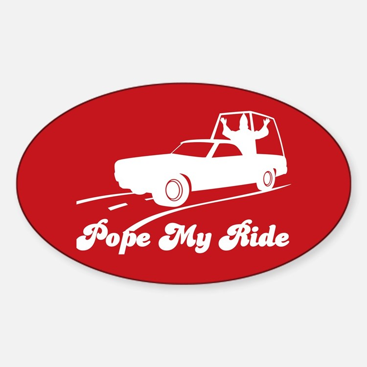 Pope My Ride Decal