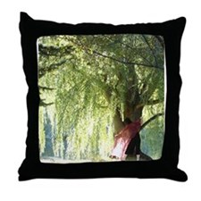 Funny Willow Throw Pillow