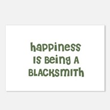 Happiness Is Being A BLACKSMI Postcards (Package o