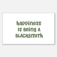 Happiness Is Being A BLACKSMI Sticker (Rectangular