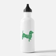 St. Patricks Day Dachshund Doxie Water Bottle