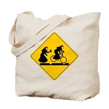 Bad Nuns Riding Bicycle Tote Bag