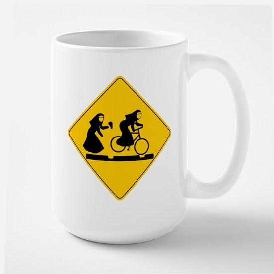 Bad Nuns Riding Bicycle Mug