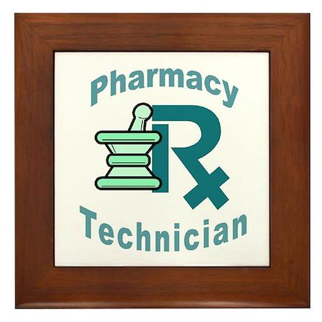 pharmacy technician Framed Tile