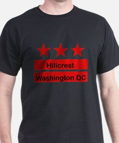Hillcrest Black T-Shirt (Inspired by the DC Flag)