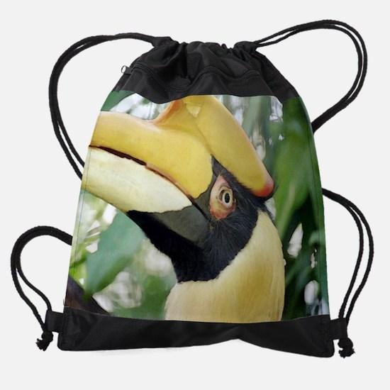 20x16hornbill.png Drawstring Bag