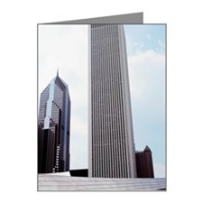 Low angle view of skyscraper Note Cards (Pk of 10)
