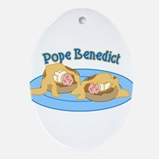 Pope Benedict Breakfast Ornament (Oval)