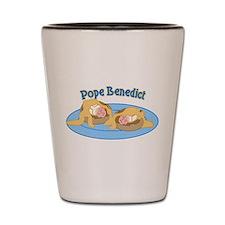 Pope Benedict Breakfast Shot Glass