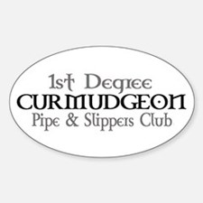 CURMUDGEON Pipe & Slippers Cl Oval Decal