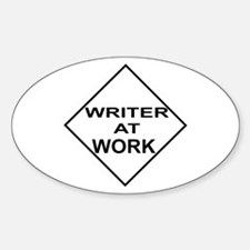 Writer at Work Writer's Oval Decal